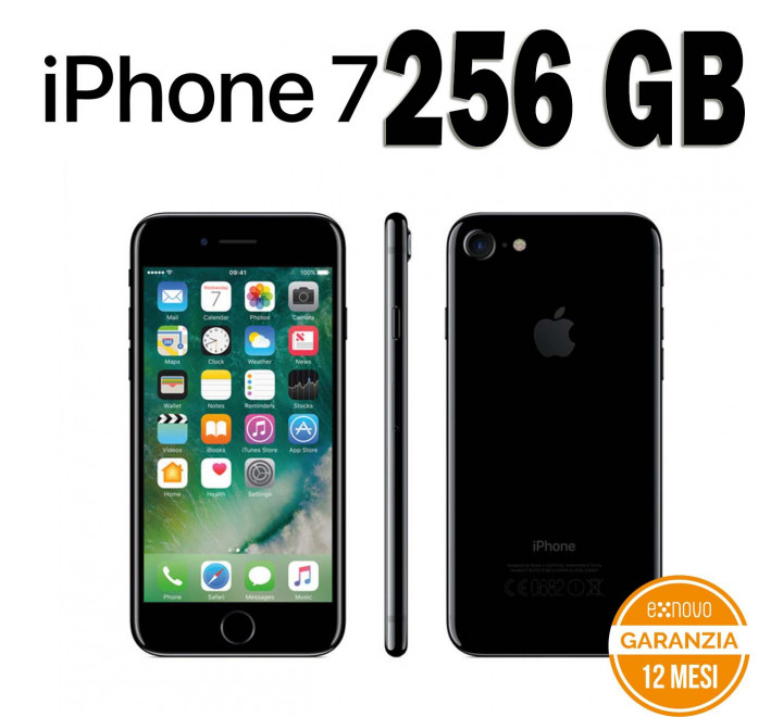 Apple iPhone 7 Ricondizionato 256GB Jet Black - Grado B