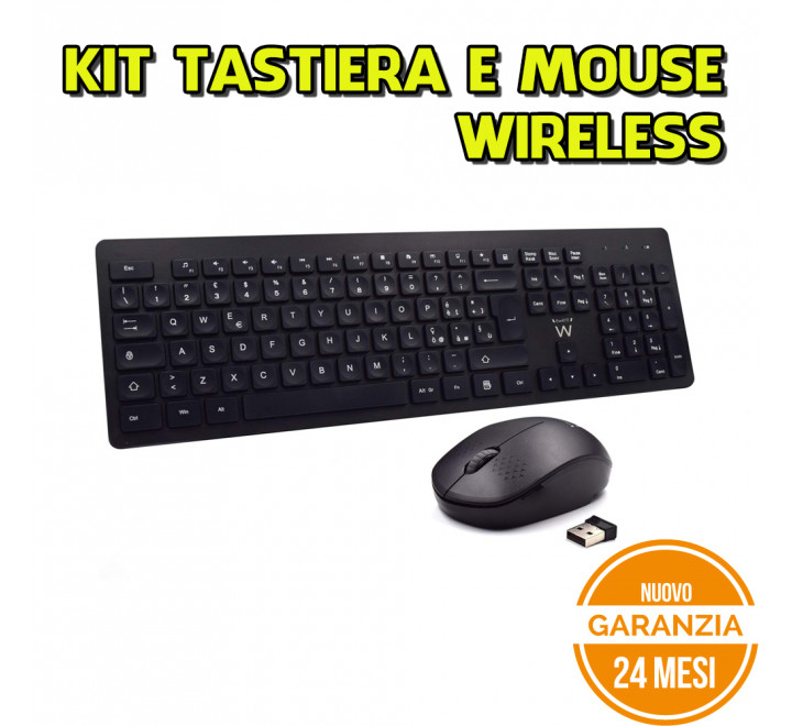 Kit Tastiera e Mouse Wireless Ewent Comfort - Nuovo