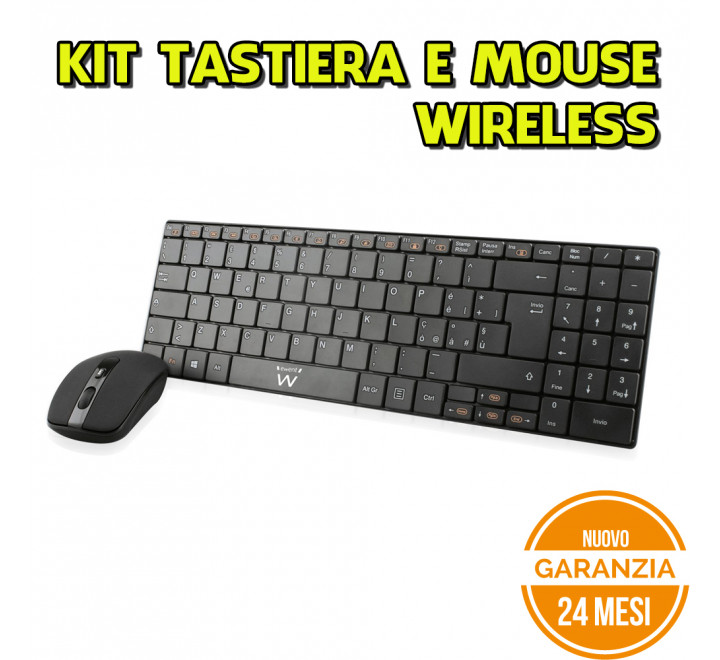 Kit Tastiera e Mouse Ewent Wireless UltraThin - Nuovo