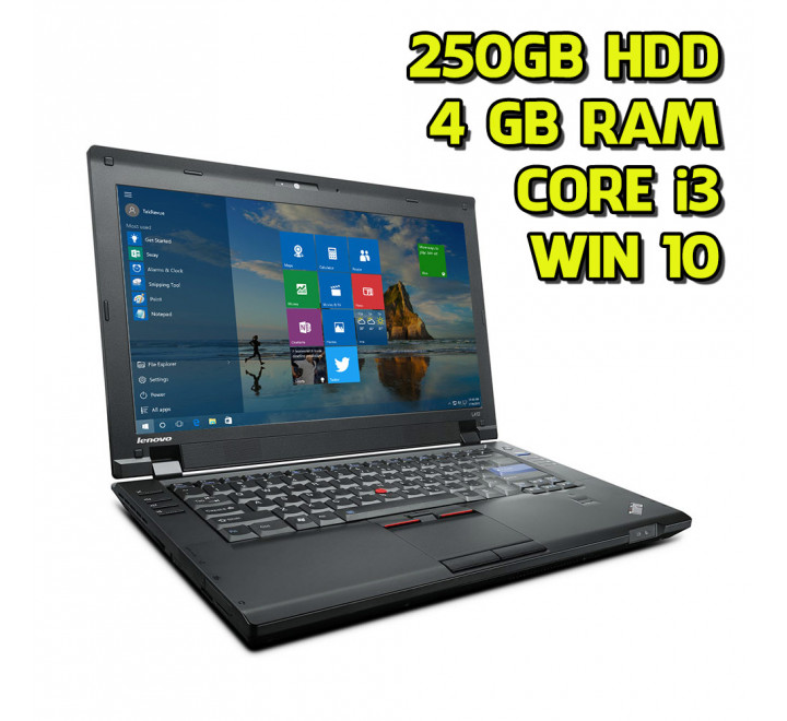 Notebook usato Lenovo L412 Intel Core i3-380M 2.53GHz 4GB Ram 250GB HDD Win 10 Pro