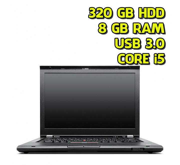 "Notebook usato Lenovo T430 14"" Intel Core i5-3320M 2.60GHz 8GB Ram 320GB HDD Win 10 Pro"