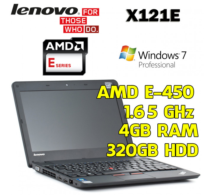 Notebook usato Lenovo X121E AMD E-450 @ 1.65 GHz, 4GB Ram, 320GB HDD, Windows 7 Professional