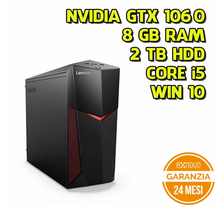 Desktop Lenovo Y520T Tower Intel Core i5-7400 3.00GHz 8GB Ram 2TB HDD Nvidia GTX1060 Win 10 Home