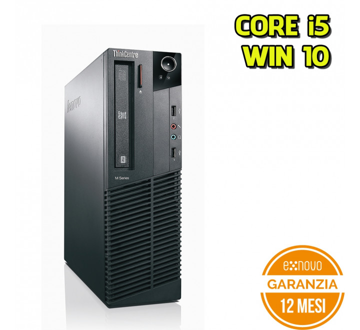 Desktop Lenovo M81 SFF Intel Core i5-2400 3.10GHz 4GB Ram 250GB HDD DVD Win 10 Pro