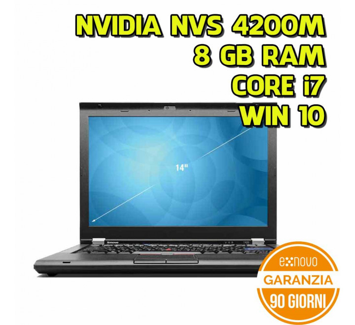 "Notebook Lenovo T420 14"" Intel Core i7-2640M 2,80GHz 8GB Ram 160GB HDD DVDRW Win 10 Pro"