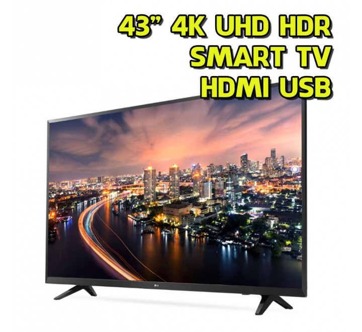 "TV 43"" pollici Ultra HD 4K HDR WIFI DVB-T2 HDMI USB Smart LG"