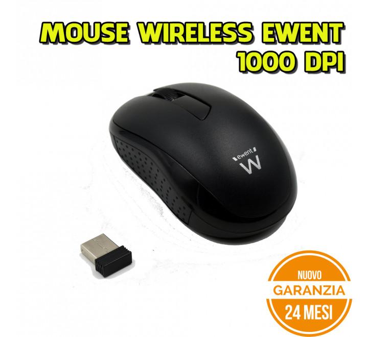 Mouse Wireless Ewent 1000 DPI - Nuovo