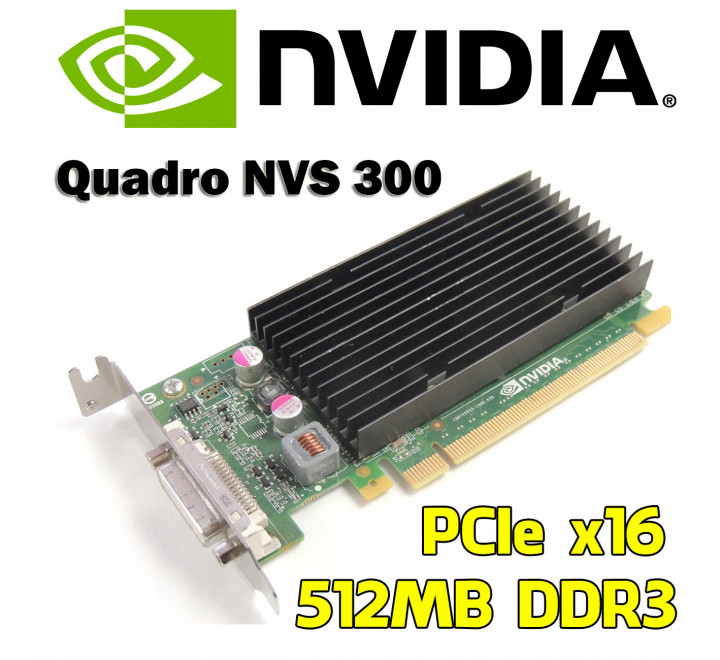 Scheda Video usata Nvidia Quadro NVS 300 Dual Monitor VGA Low profile 512MB Ram DDR3 PCIe x16 Cavo dms-59 to dual-VGA compreso