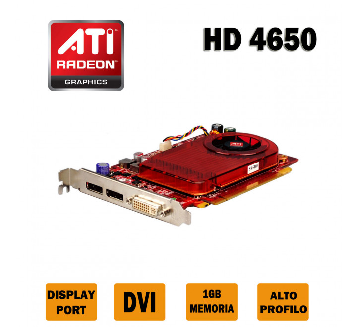 Scheda Video Ati Radeon HD 4650 1 GB di Memoria dedicata