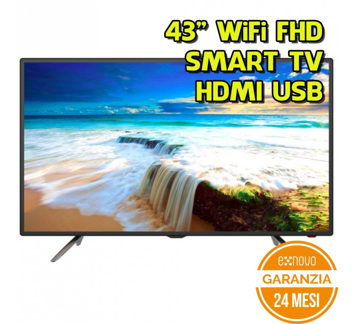 "TV NODIS 43"" LED FHD WI-FI DVB-T2 HDMI USB Smart TV"