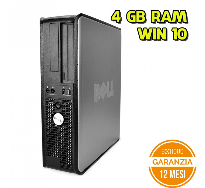 Desktop Dell 760 SFF Intel Core 2 Duo E7400 2,80GHz 4GB Ram 80GB HDD DVD Win 10 Pro
