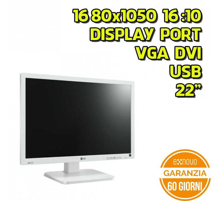 "Monitor LG 22MB65PY 22"" 1680x1050 VGA DVI Display Port USB 16:10 VESA - Grado A"