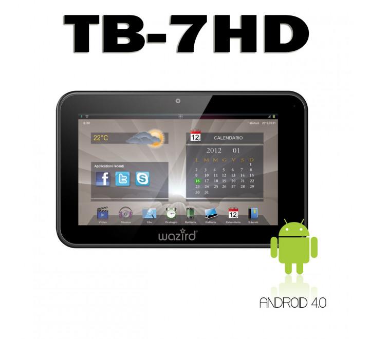 Tablet Wazird TB-7HD 4GB Memoria Totale Android 4.0