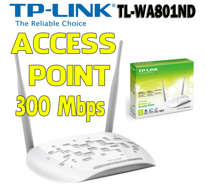 Access Point 300 Mbps 2,4 Ghz Wireless N TL-WA801ND