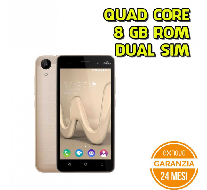 "Smartphone Wiko Sunny2 Gold - 4"" Quad Core 8GB ROM Dual SIM Android"