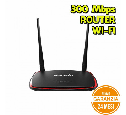 Router Tenda N300 300Mbps 2 Antenne - Nuovo