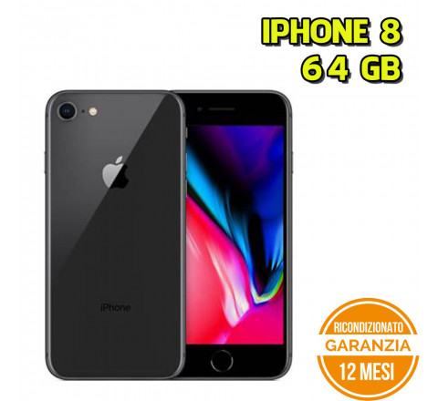 Apple iPhone 8 Ricondizionato 64GB Black - Grado C