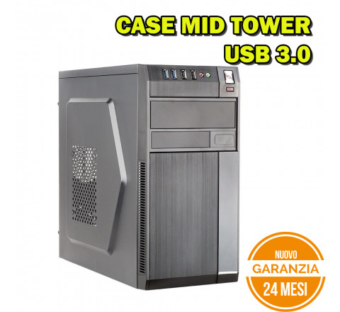 Case Mid Tower ITEK ROBB USB 3.0 - Nuovo