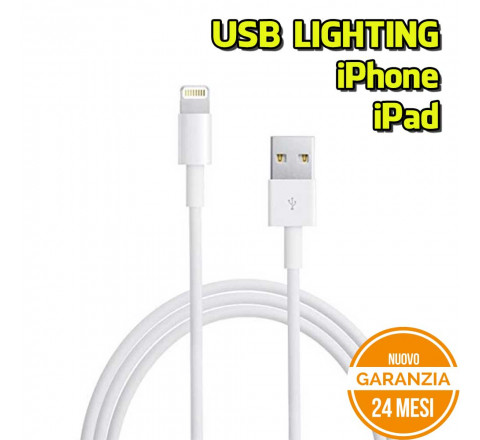 Cavo USB - Lighiting Bianco generico per smartphone Apple iPhone/iPad