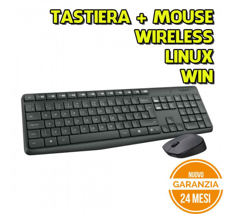 Kit Tastiera E Mouse Logitech MK235 Wireless - Nuovo