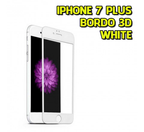 Vetro Temprato per Apple iPhone 7 Plus - Ultra sottile - Bordo 3D White